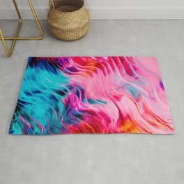 Abstract Colorful Paint II Rug