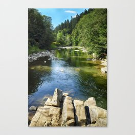 Blue whirlpools reserve Canvas Print