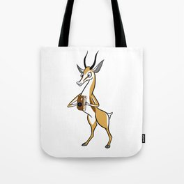 Springbok with a folding camera Tote Bag