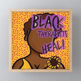 Black Therapists Heal Framed Mini Art Print