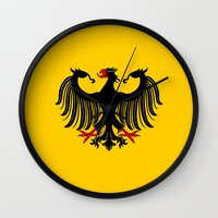 german Wall Clocks featuring German Eagle by Richard Fay