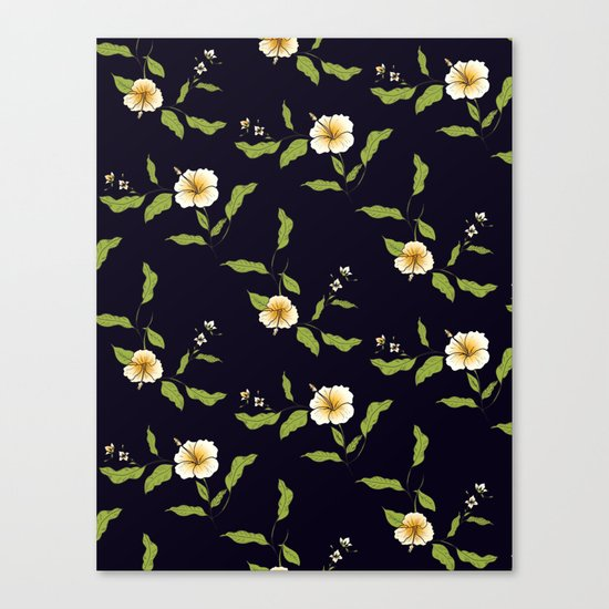Yellow Tropical Flowers #society6 #decor #buyart Canvas Print