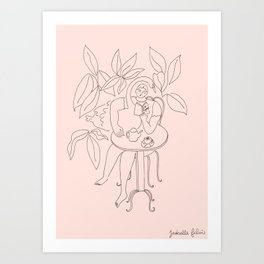 Coffee & a Swan Art Print