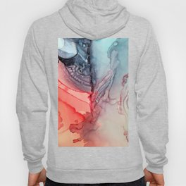 Undertow Meets Lava- Alcohol Ink Painting Hoody