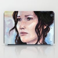 katniss iPad Cases featuring Katniss Everdeen by Alina Rubanenko
