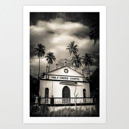 The Holy Cross Chapel of Anjuna, Goa, India Art Print
