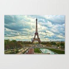 Dramatic Eiffel  Canvas Print