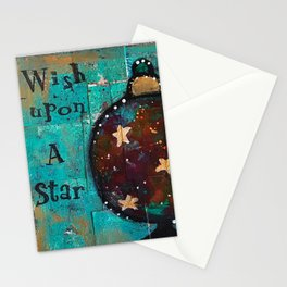 """""""Wish Upon A Star"""" Original Painting by Krista J. Brock Stationery Cards"""
