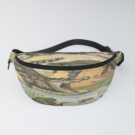 Reptiles Poster Vintage Fanny Pack