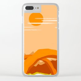 Minimalist Arches Clear iPhone Case