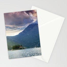 Sunset over Bay of Kotor Stationery Cards