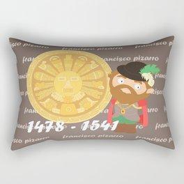 Francisco Pizarro Rectangular Pillow