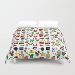 Super Mario Pattern Color Duvet Cover