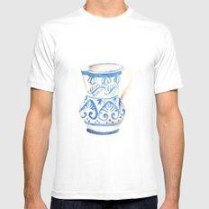 handmade ceramic Mens Fitted Tee MEDIUM White