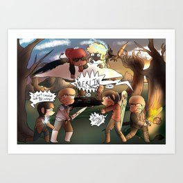 Quarrel? More like entertainment Art Print