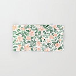 """Loose watercolor florals, """"Miriam"""" Hand & Bath Towel"""