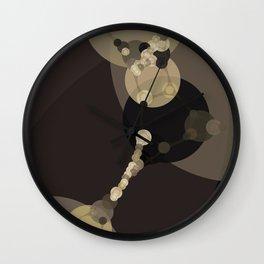 tara - dark abstract of tan chestnut brown taupe yellow beige Wall Clock