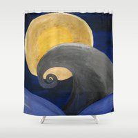nightmare Shower Curtains featuring Nightmare by Shelly Lukas Art