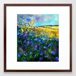 wild summer flowers Framed Art Print