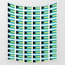 flag of Bahamas – Nassau,Bahamian,Bahamianese,Junkanoo,Regattas Wall Tapestry