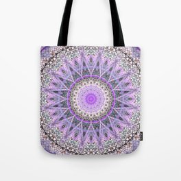 Lovely Lavender Mandala Design Tote Bag