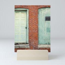 Turquoise on Brick Mini Art Print