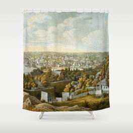Vintage Pictorial Map of Georgetown (1855) Shower Curtain