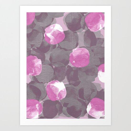 Abstract Peonies Art Print
