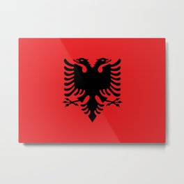 Flag of Albania - Authentic version Metal Print