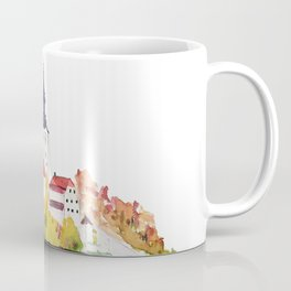 Slovenia Bled Lake pilgrimage church Coffee Mug