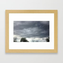 MAD CLOUDS Framed Art Print