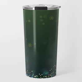 Elegant Green & Gold Christmas Travel Mug