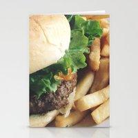 hamburger Stationery Cards featuring Hamburger by Anna Zurowska