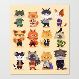 Meow Hero Acatdemia Canvas Print