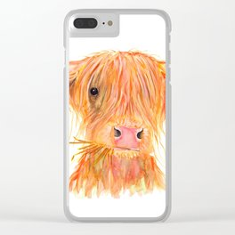Scottish Highland Cow ' FERGUS ' by Shirley MacArthur Clear iPhone Case
