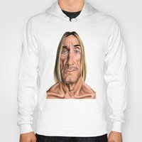 iggy Hoodies featuring Celebrity Sunday ~ Iggy Pop by rob art | illustration