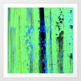 Gerhard Richter Inspired Urban Rain 2 - Modern Art Art Print