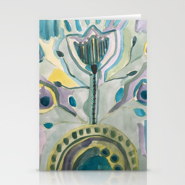 Floral blooms Stationery Cards