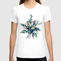 cracked T-shirts featuring Cracked I by AJJ ▲ Angela Jane Johnston