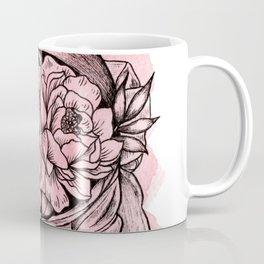 Head On The Moon Pink Coffee Mug