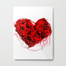 My Heart (all bloody, with like blood and stuff) Metal Print