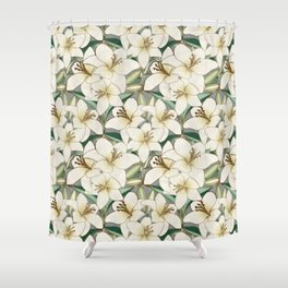 Gilding the Lilies - neutral forest shades Shower Curtain