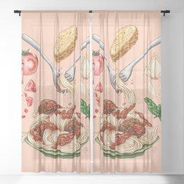 Spaghetti Mandala Sheer Curtain