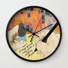 A Drop Of Ink Wall Clock