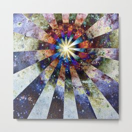 Space Odyssey - Big Bang II Metal Print