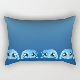 Bitty Blue Monster Rectangular Pillow