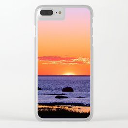 Stunning Seaside Sunset Clear iPhone Case