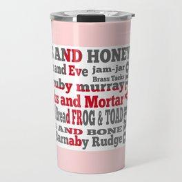 Cockney Rhyming slang on English flag Travel Mug