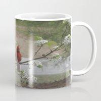 cardinal Mugs featuring Cardinal  by Earth'sAnimalActivist23