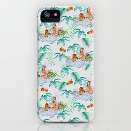 Jungle Jacuzzi Pattern iPhone Case